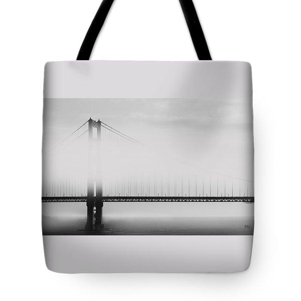 Golden Gate Bridge - Fog And Sun Tote Bag by Ben and Raisa Gertsberg