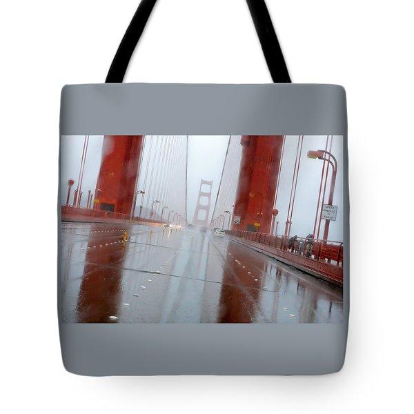 Golden Gate Rain Tote Bag by Daniel Furon
