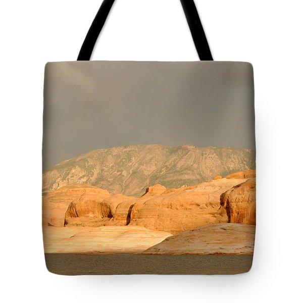 Golden Hour At Lake Powell Tote Bag by Julie Niemela