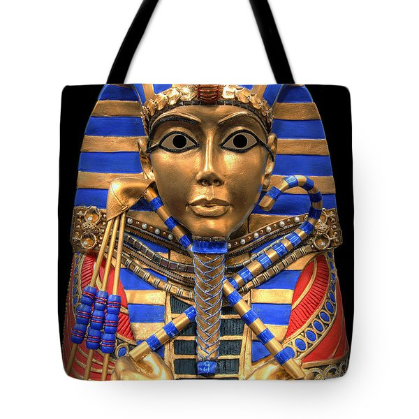 GOLDEN INNER SARCOPHAGUS of a PHARAOH Tote Bag by Daniel Hagerman