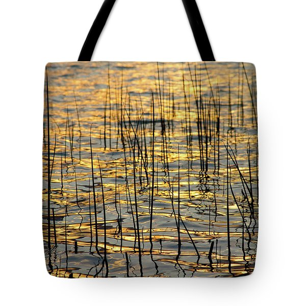 Golden Lake Ripples Tote Bag by James BO  Insogna
