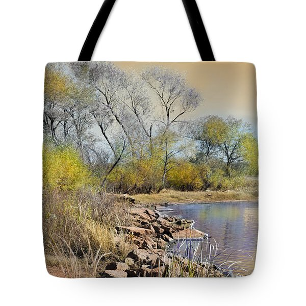Golden Light Tote Bag by Betty LaRue