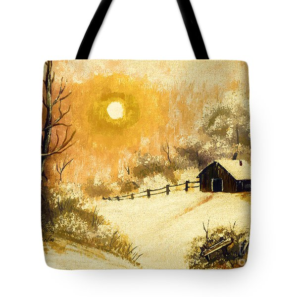 Golden Morning Tote Bag by Barbara Griffin