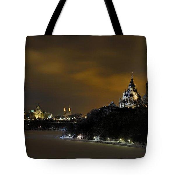 Golden Night... Tote Bag by Nina Stavlund