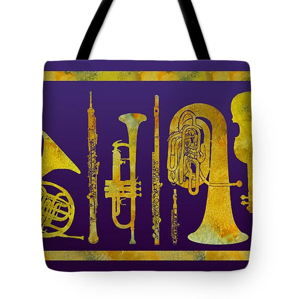 Golden Orchestra Tote Bag by Jenny Armitage