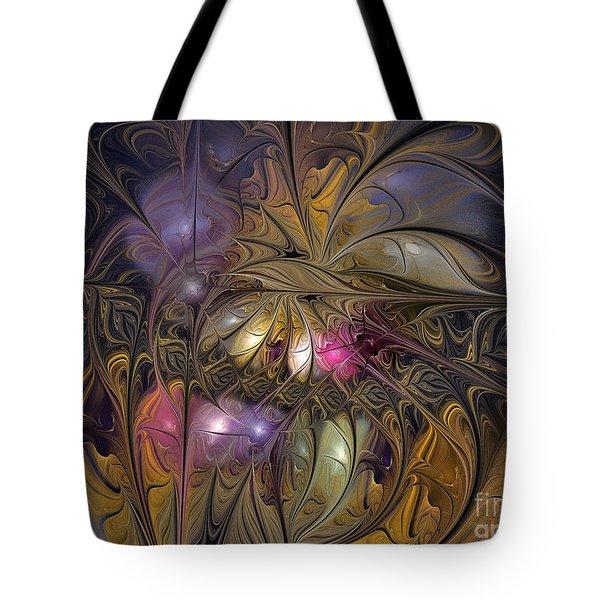 Golden Ornamentations-fractal Design Tote Bag by Karin Kuhlmann