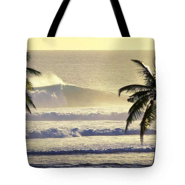 Golden Palms Tote Bag by Sean Davey