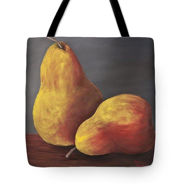 Golden Pears Tote Bag by Darice Machel McGuire
