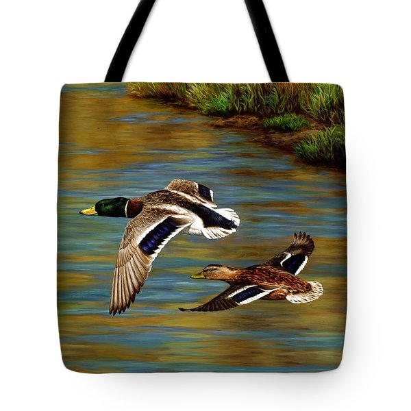 Golden Pond Tote Bag by Crista Forest