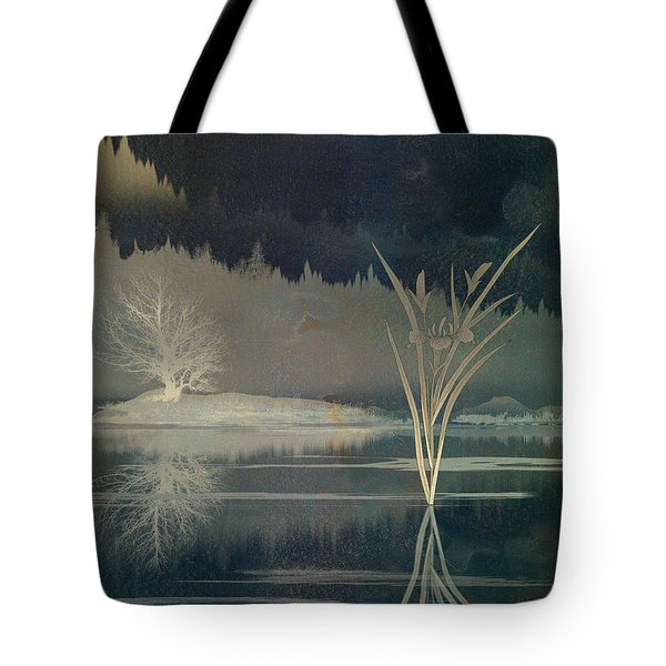 Golden Pond Lily Tote Bag by Bedros Awak