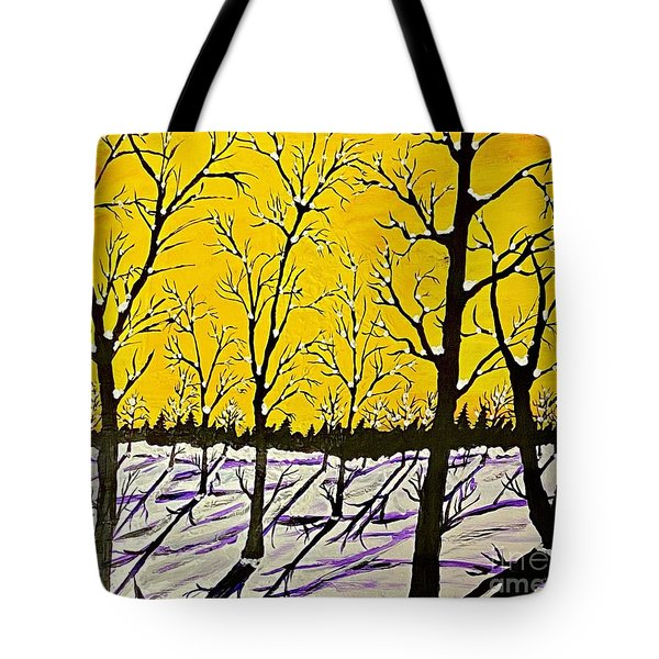 Golden Shadows Tote Bag by Jeffrey Koss