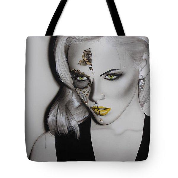 'Golden Soul' Tote Bag by Christian Chapman Art