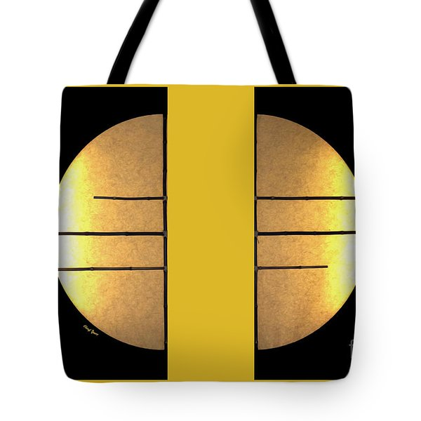 Golden Sun Diptych Tote Bag by Cheryl Young