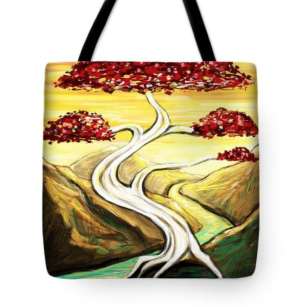Golden Sunrise Tote Bag by Shawna  Rowe