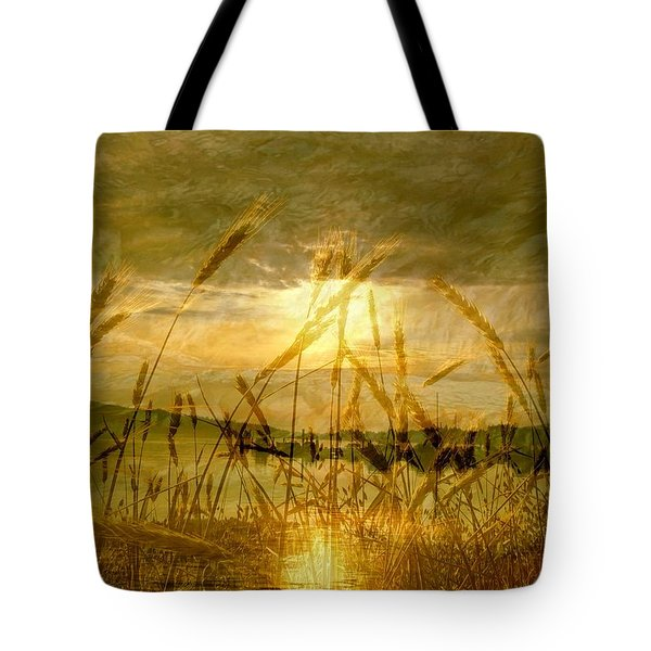 Golden Sunset Tote Bag by Barbara St Jean
