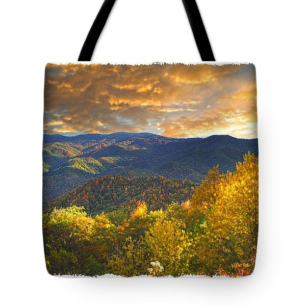 Golden Tipped Smokey's  Tote Bag by Randall Branham
