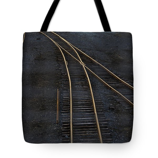 Golden Tracks Tote Bag by Margie Hurwich