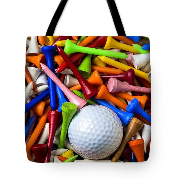 Golf Ball And Tees Tote Bag by Garry Gay