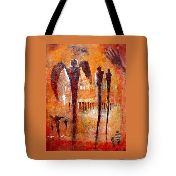 Golgotha Petroglyph Tote Bag by Derrick Higgins