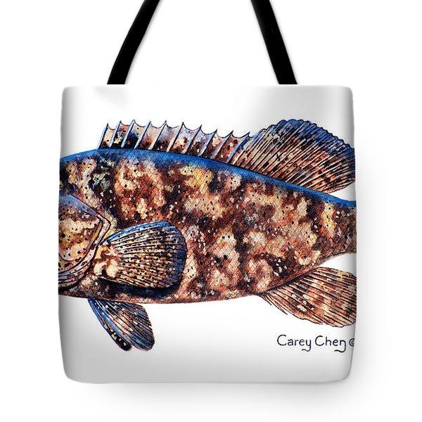 Goliath Grouper Tote Bag by Carey Chen