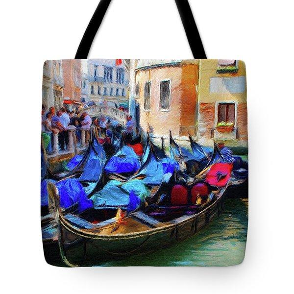 Gondolas Tote Bag by Jeff Kolker