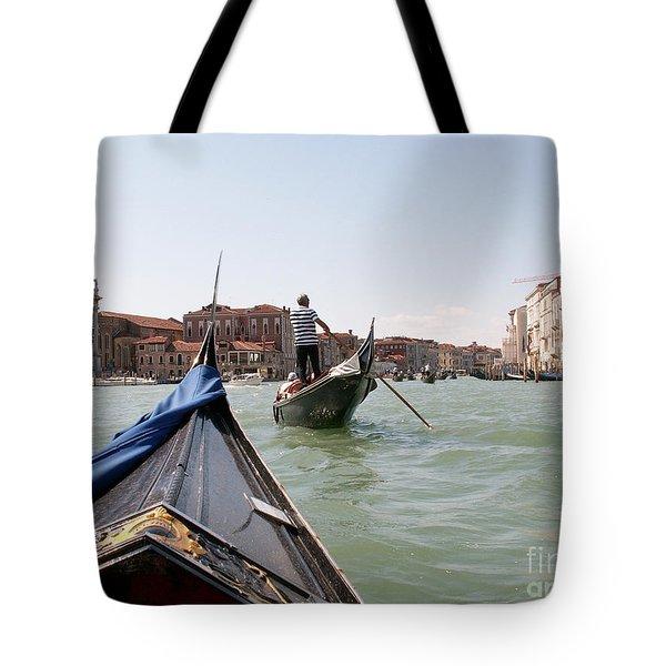 Gondoliers Tote Bag by Evgeny Pisarev
