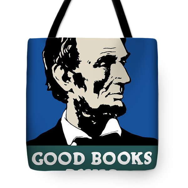 Good Books Build Character Tote Bag by War Is Hell Store