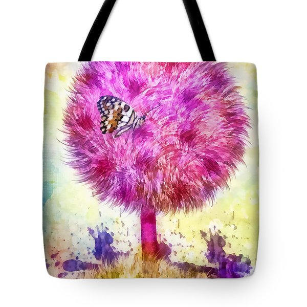 Good Luck Tree Tote Bag by Mo T