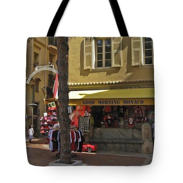 Good Morning Monaco Tote Bag by Allen Sheffield