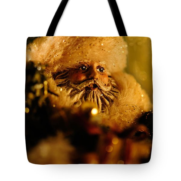 Good St. Nick Tote Bag by Lois Bryan