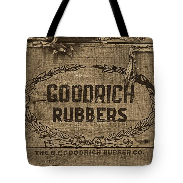 Goodrich Rubbers Boot Box Tote Bag by Tom Mc Nemar