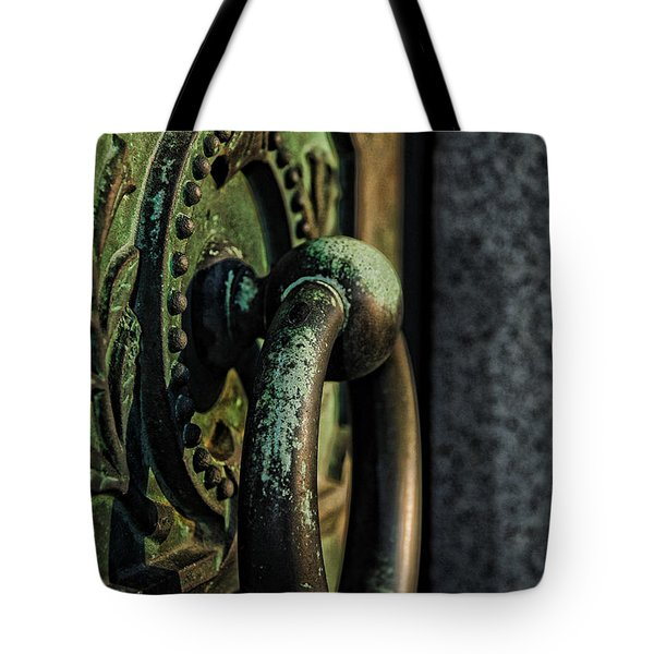 Goth - Crypt Door Knocker Tote Bag by Paul Ward