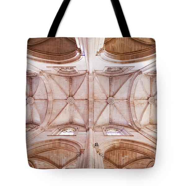 Gothic Ceiling Of The Batalha Monastery Church Tote Bag by Jose Elias - Sofia Pereira