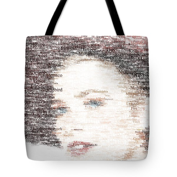 Grace Kelly Typo Tote Bag by Taylan Apukovska