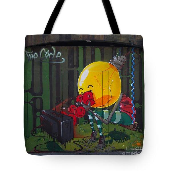 Graffiti Stokes Croft Tote Bag by Brian Roscorla