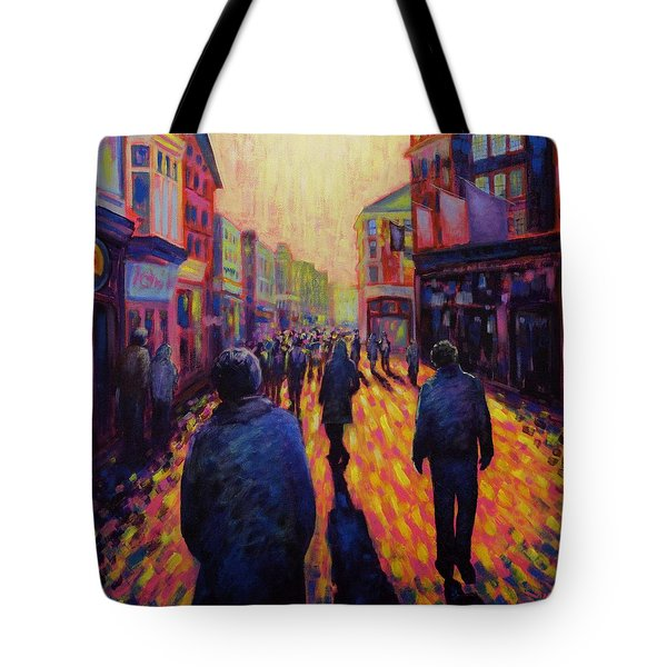 Grafton Street Dublin Tote Bag by John  Nolan
