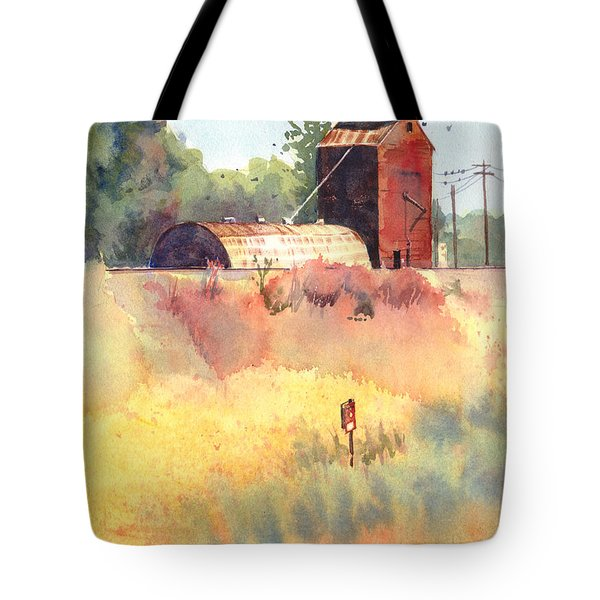 Grain Elevator Tote Bag by Kris Parins