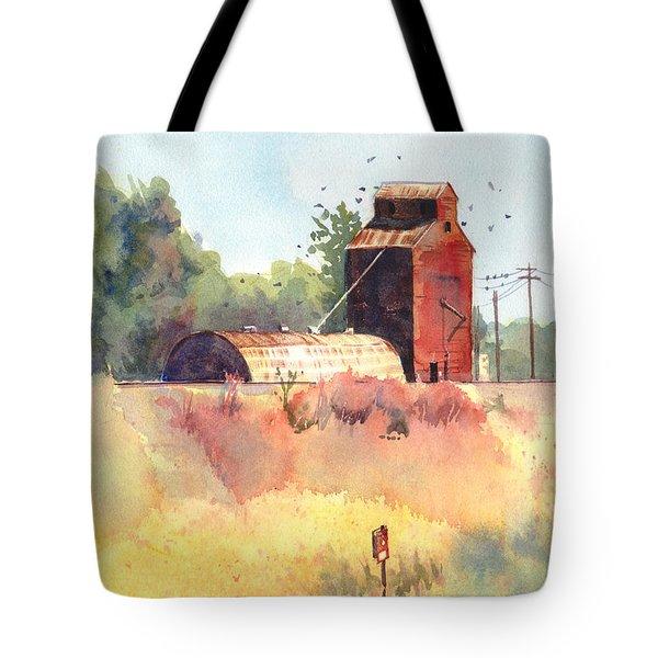 Grain Elevator Tote Bag by Kris Parins