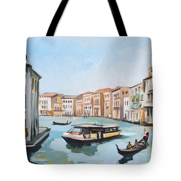 Grand Canal 2 Tote Bag by Filip Mihail