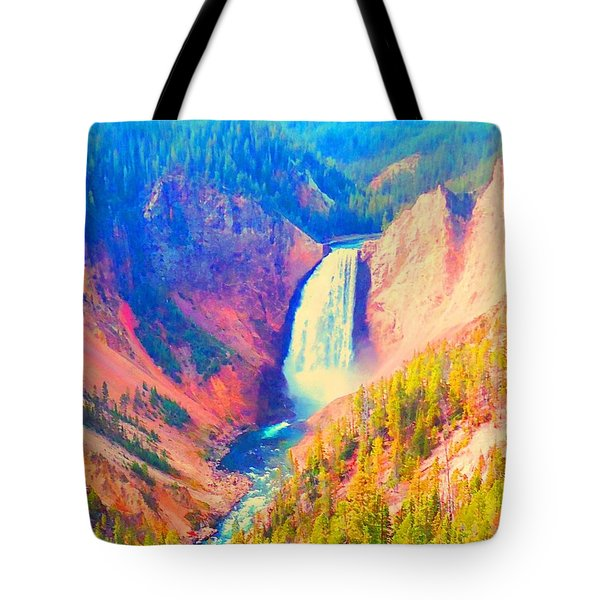 Grand Canyon Of The Yellowstone Tote Bag by Ann Johndro-Collins