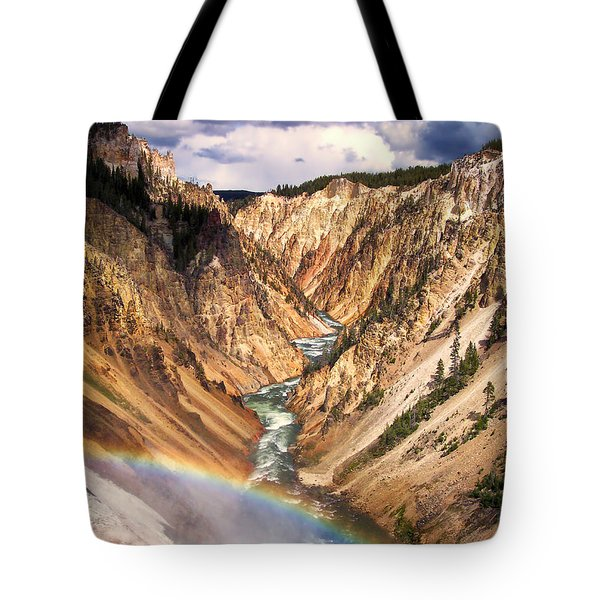 Grand Canyon of Yellowstone 1 Tote Bag by Thomas Woolworth