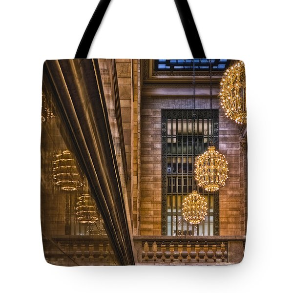Grand Central Terminal Chandeliers Tote Bag by Susan Candelario