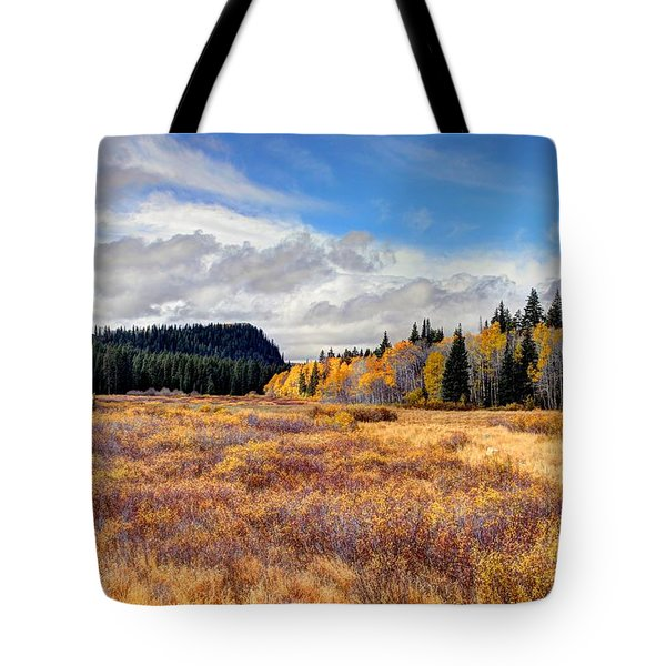 Grand Mesa Colors Tote Bag by Bob Hislop