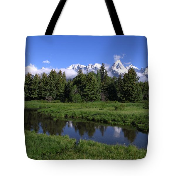 Grand Teton Reflection Tote Bag by Brian Harig