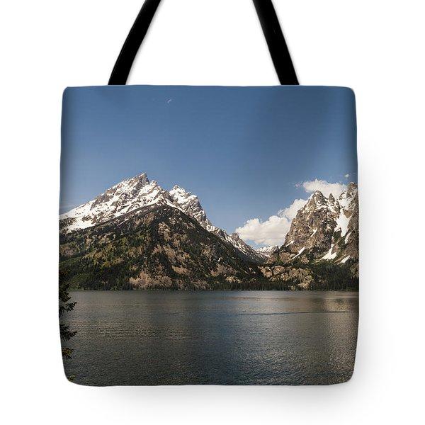 Grand Tetons On Jenny Lake 2 - Grand Teton National Park Wyoming Tote Bag by Brian Harig