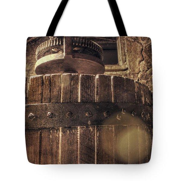 Grape Press at Wiederkehr Tote Bag by Jason Politte