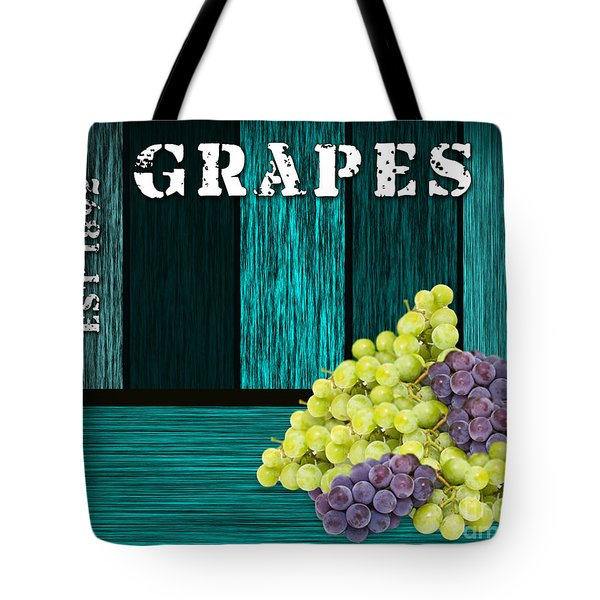 Grape Sign Tote Bag by Marvin Blaine
