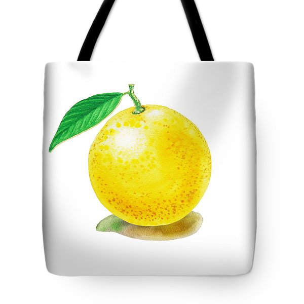 Grapefruit Tote Bag by Irina Sztukowski