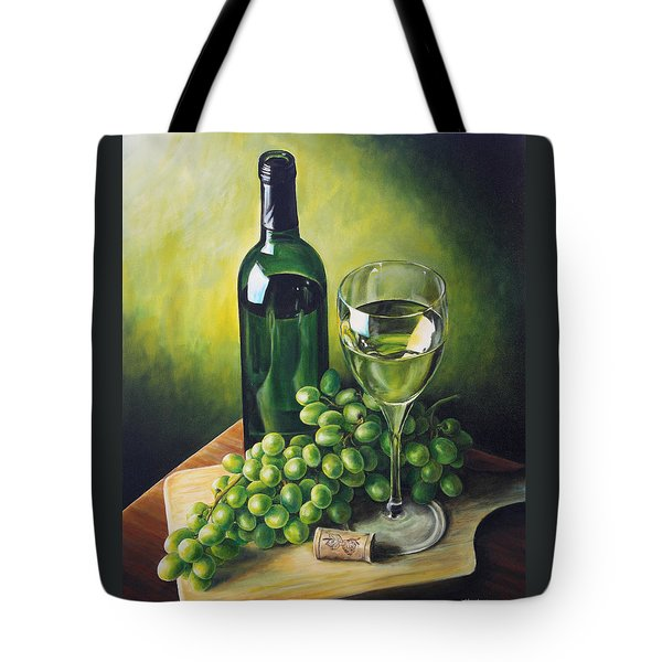 Grapes And Wine Tote Bag by Kim Lockman