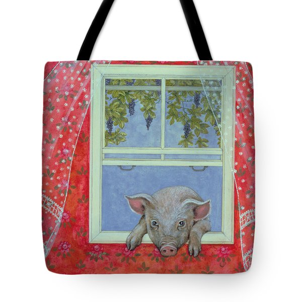 Grapes At The Window Tote Bag by Ditz
